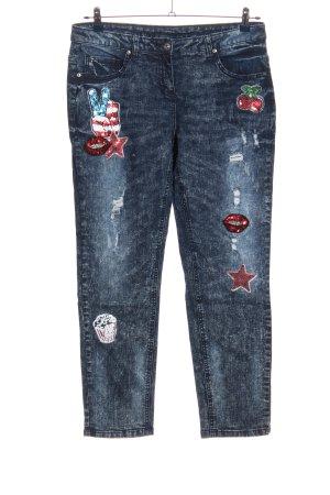 Alba Moda Jeans coupe-droite bleu style décontracté