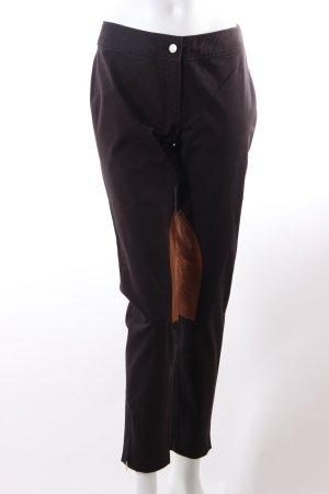 Alba Moda Pantalone da equitazione nero-marrone
