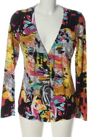 Alba Moda Gebreide cardigan abstract patroon casual uitstraling