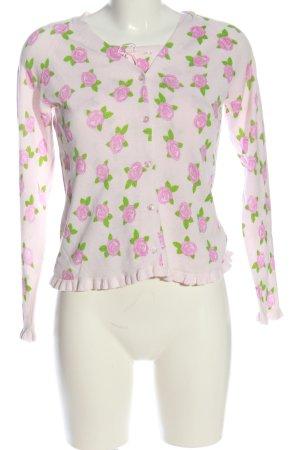 Alba Moda Twin Set punto rosa-verde estampado floral look casual