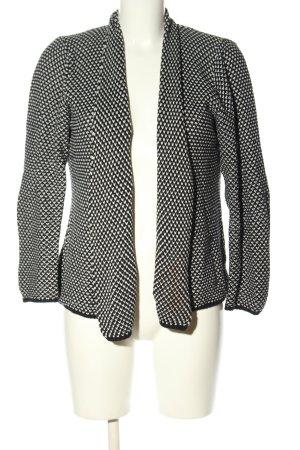 Alba Moda Gebreide blazer zwart-wit volledige print casual uitstraling