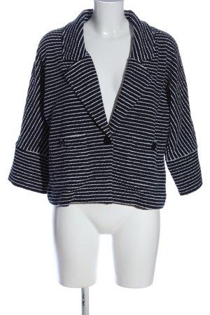 Alba Moda Gebreide blazer wit-zwart volledige print casual uitstraling