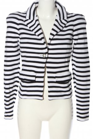 Alba Moda Knitted Blazer white-black allover print casual look