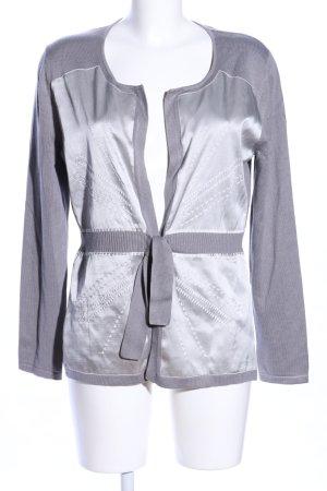 Alba Moda Veste en tricot gris clair moucheté style décontracté