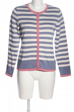 Alba Moda Veste en tricot motif rayé style décontracté