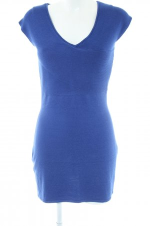 Alba Moda Robe en maille tricotées bleu style décontracté
