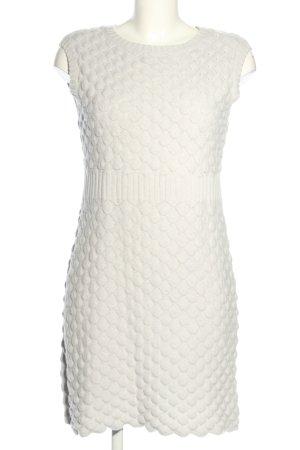 Alba Moda Sukienka z dzianiny biały W stylu casual