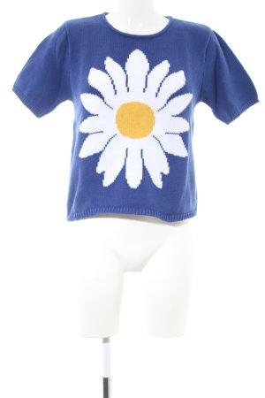 Alba Moda Strickpullover Blumenmuster Casual-Look