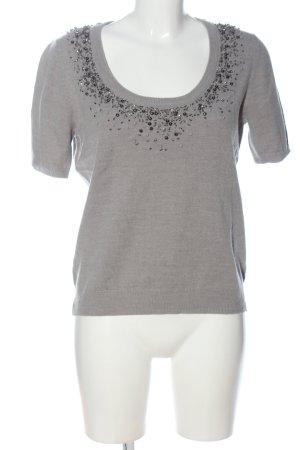 Alba Moda Camicia maglia grigio chiaro puntinato stile casual