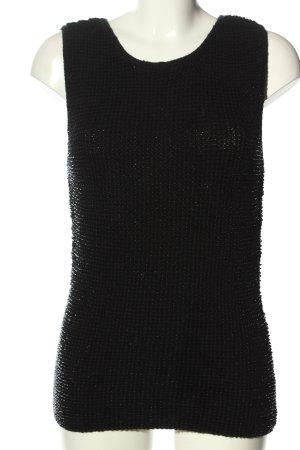 Alba Moda Top z dzianiny czarny W stylu casual