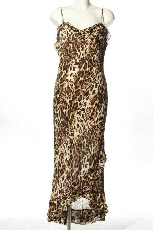 Alba Moda Vestido tipo overol estampado de leopardo elegante