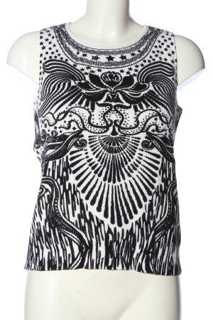 Alba Moda Top na ramiączkach czarny-biały Na całej powierzchni W stylu casual
