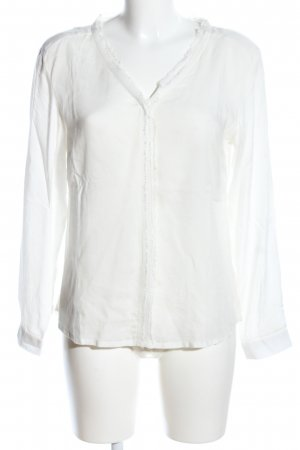 Alba Moda Transparenz-Bluse weiß Business-Look