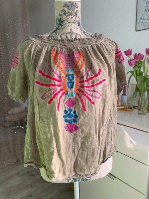 Alba Moda Tunique-blouse multicolore