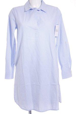 Alba Moda Tunikabluse weiß-hellblau Streifenmuster Street-Fashion-Look