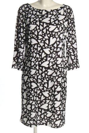 Alba Moda Tunic Dress black-white graphic pattern casual look