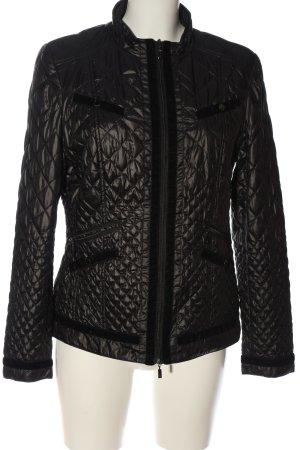 Alba Moda Between-Seasons Jacket black quilting pattern casual look