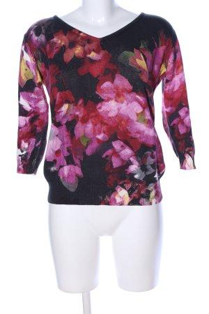Alba Moda V-Neck Sweater allover print casual look