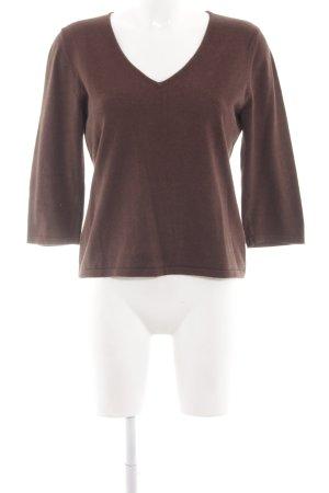 Alba Moda V-Ausschnitt-Pullover braun Casual-Look