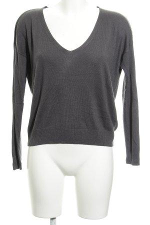 Alba Moda V-Ausschnitt-Pullover dunkelgrau Casual-Look