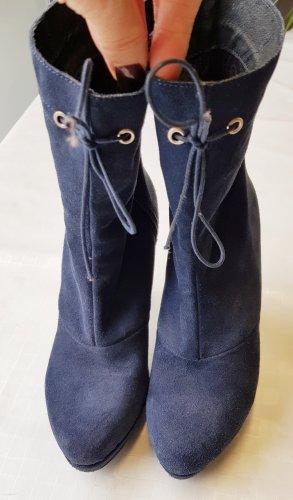 Alba Moda Botas con cremallera azul oscuro