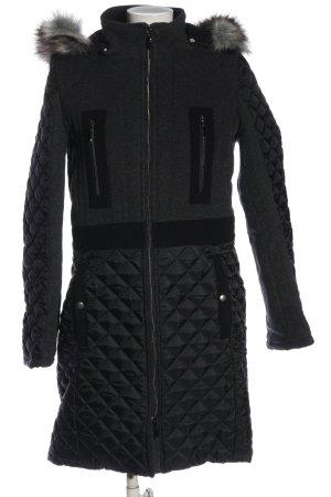 Alba Moda Winterjack zwart quilten patroon casual uitstraling