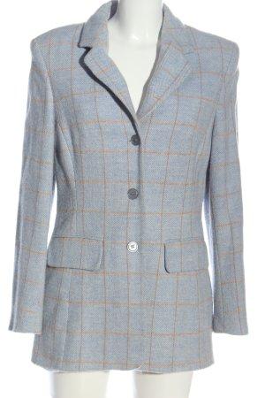 Alba Moda Wollen blazer blauw-licht Oranje geruite print zakelijke stijl