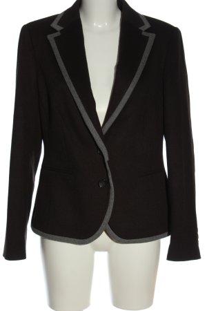 Alba Moda Wollen blazer zwart-lichtgrijs elegant