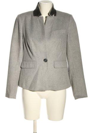 Alba Moda Giacca di lana grigio chiaro puntinato stile casual