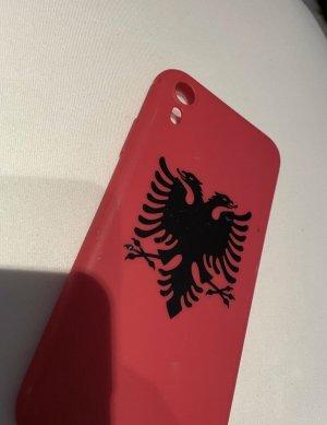 Hoesje voor mobiele telefoons rood-zwart