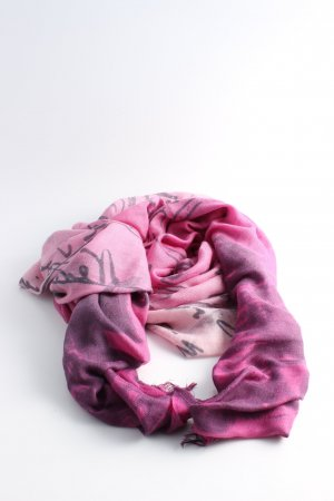 Alberotanxa Cashmere Scarf pink-black allover print casual look