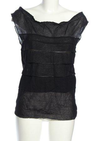 Alberta Ferretti Top koszulowy czarny W stylu casual