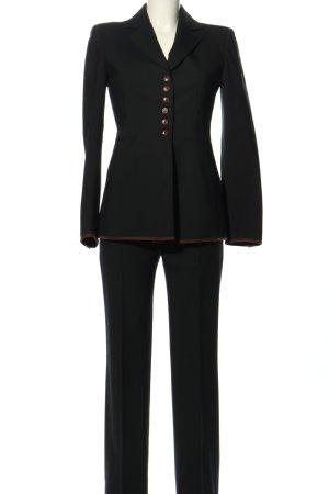Alberta Ferretti Garnitur damski czarny W stylu biznesowym