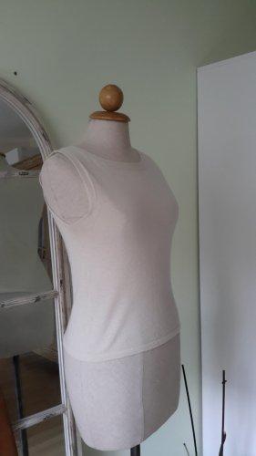 Alberta Ferretti Top básico blanco puro-crema