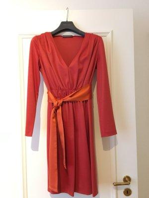 Alberta Ferretti Abito a maniche lunghe arancione scuro-rosso mattone