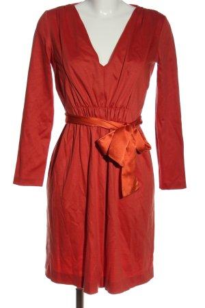 Alberta Ferretti Robe à manches longues rouge style décontracté