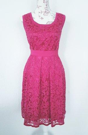Alberta Ferretti Koronkowa sukienka malina-różowy