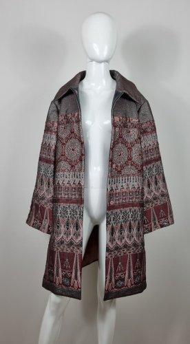 Alberta Ferretti Short Coat bordeaux