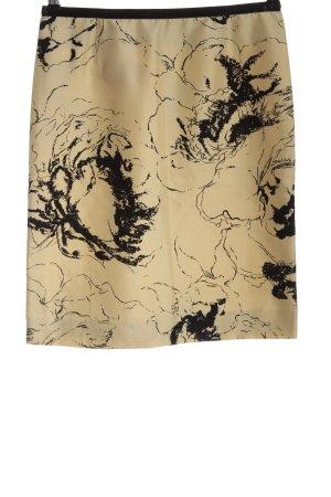 Alberta Ferretti Jedwabna spódnica w kolorze białej wełny-czarny