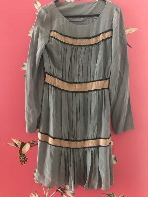 Alberta Ferretti Sukienka koktajlowa szary niebieski-beżowy