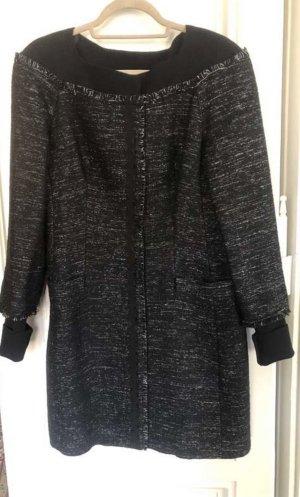 Alberta Ferretti Short Coat black-grey wool