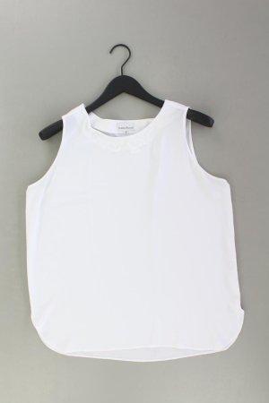Alberto Ärmellose Bluse Größe 42 weiß aus Polyester