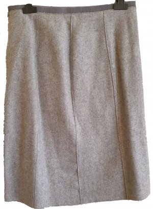 Alberto Biani Wool Skirt light grey wool