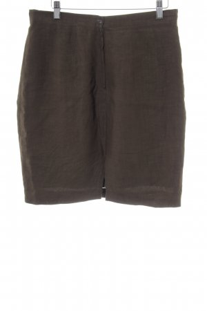 Alberto Biani Linen Skirt olive green business style