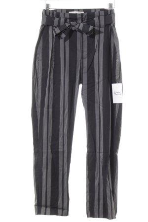 Alberto Pantalone chino nero-bianco motivo a righe stile da moda di strada