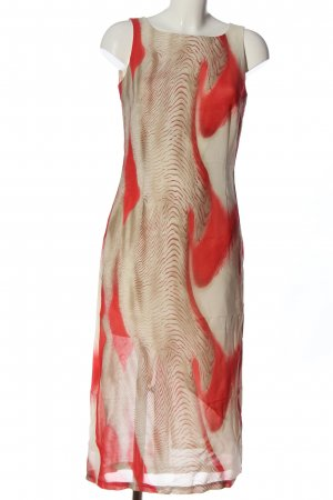Alberto Fabiani Chiffon Dress nude-red abstract pattern casual look