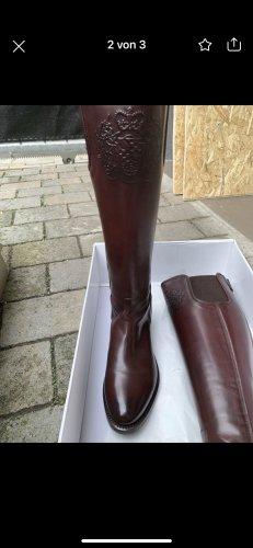 Alberto Fasciani Wide Calf Boots brown red