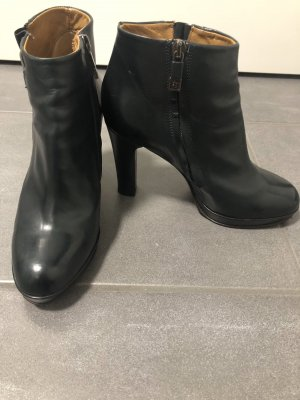 Alberto Fermani Platform Booties dark blue leather