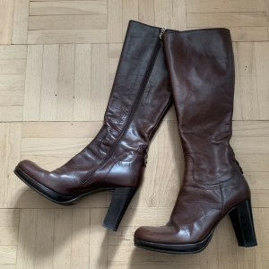 Alberto Fermani Heel Boots brown leather