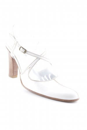Alberto Fermani Strapped High-Heeled Sandals white-brown simple style